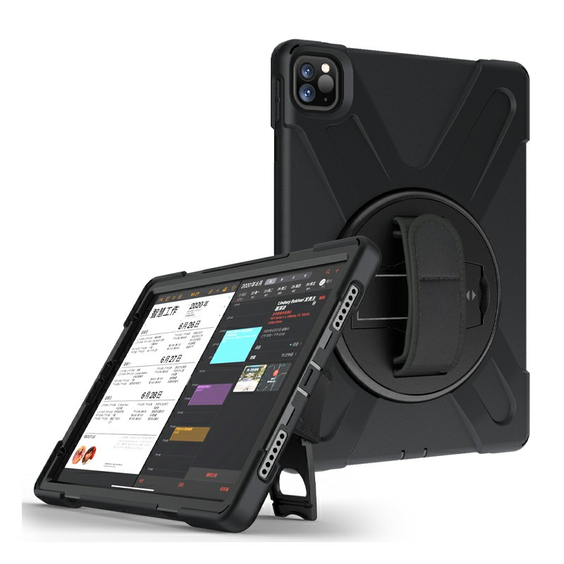Heavy Duty Rugged PC Silicone Case for Apple iPad Pro 11 inch 2018/2020 - Black