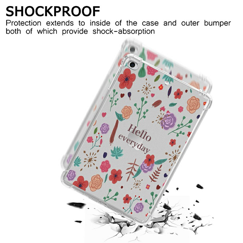 Soft TPU Painted Protective Back Cover Snap-on Case for iPad Mini 1/2/3/4/5 - Hello Every Day