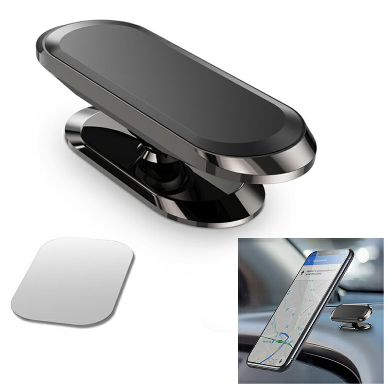 Magnetic in Car Mobile Phone Holder Mount for Phone Rotating 360 Degree - Black
