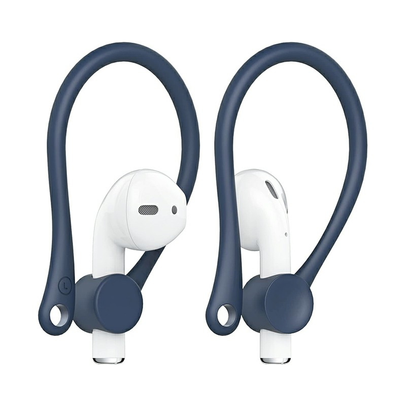 Anti-Lost Sport Silicone Ear Hooks for Apple AirPods 1 and AirPods 2 - Blue