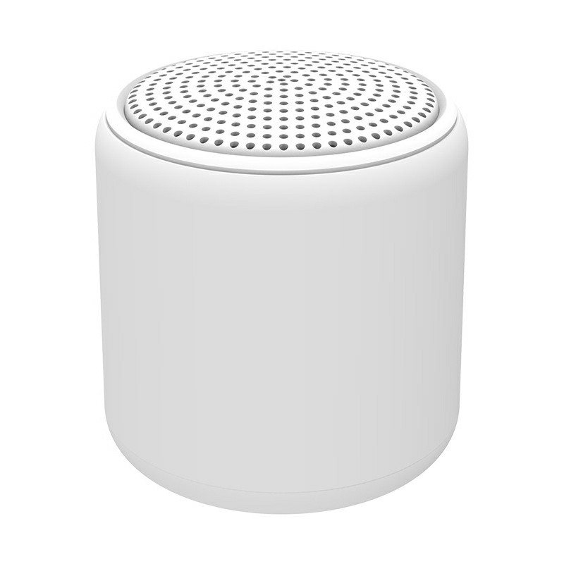 Metal Macaron Wireless Inpods Bluetooth Mini Speaker - White