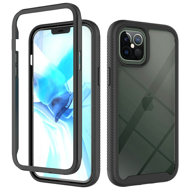 360 degree Full Body Slim Armor Case with Front Frame for iPhone 12 Pro Max
