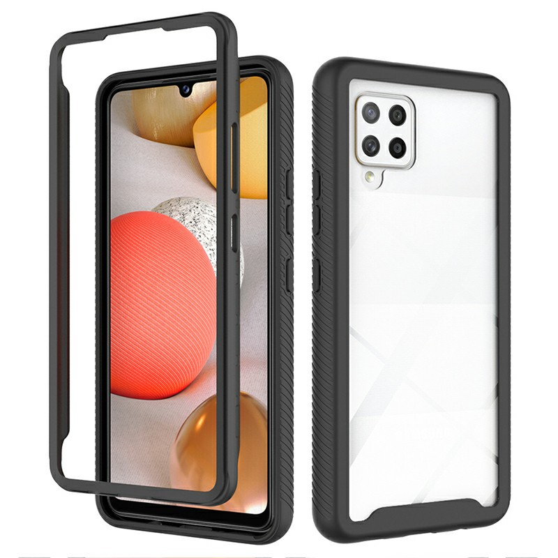 360 degree Full Body Slim Armor Case with Front Frame for Samsung Galaxy A42 5G