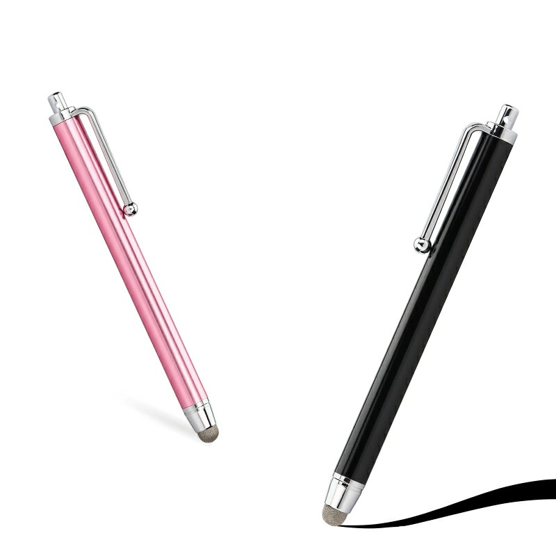 Ultra Smooth High Sensitive Micro-fibre Tip Stylus Pen for All Mobile Phones Tablet iPad - Black