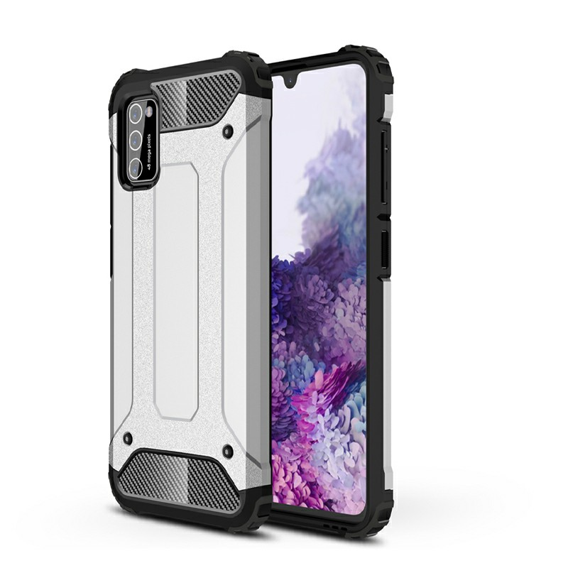 Rugged Armor TPU + PC Combination Case for Samsung Galaxy A41 - Silver
