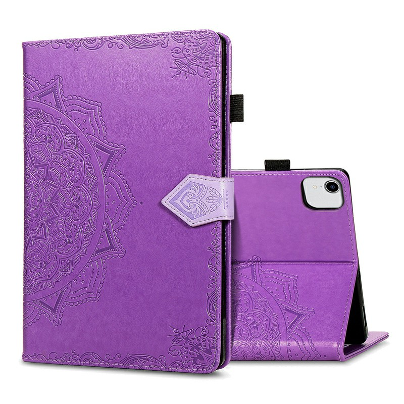 PU Leather Folio Stand Cover Case for iPad air 10.9 inch - Purple