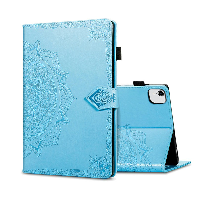 PU Leather Folio Stand Cover Case for iPad air 10.9 inch - Blue