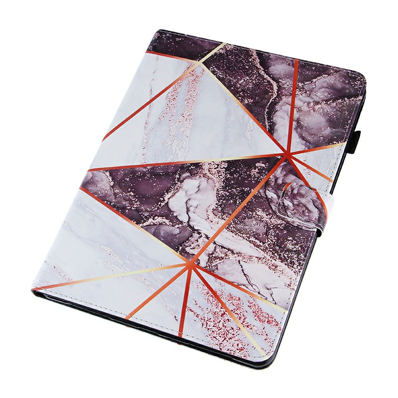 PU Leather Folio Stand Cover Case for iPad Pro 11 inch 2020 2018 and iPad Air 4 10.9 2020 - Black + White