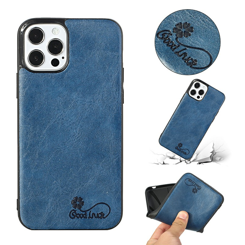 Slim and Soft Silicone PU Cover Protective Back Case for iPhone 12 Mini - Blue