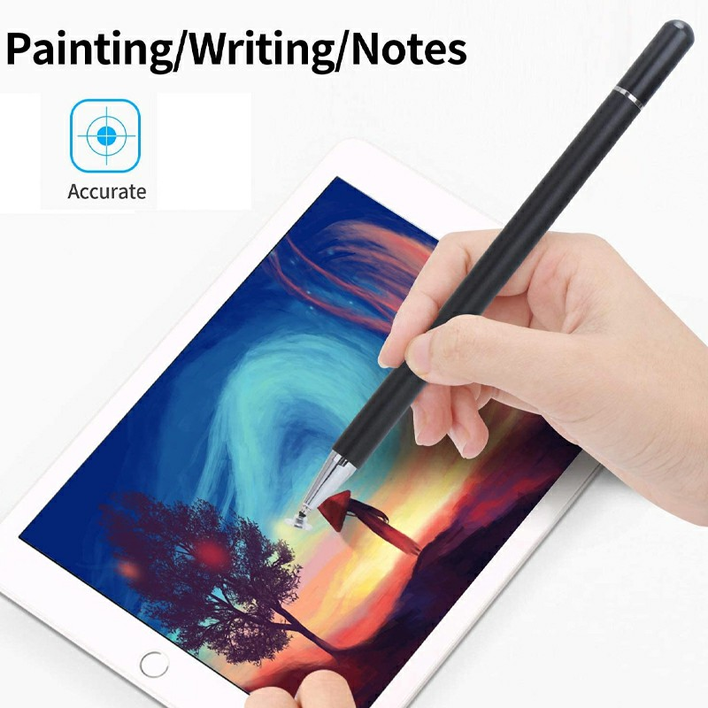 Universal Capacitive Touch Stylus Pen for iPad iPhone Tablet - Black