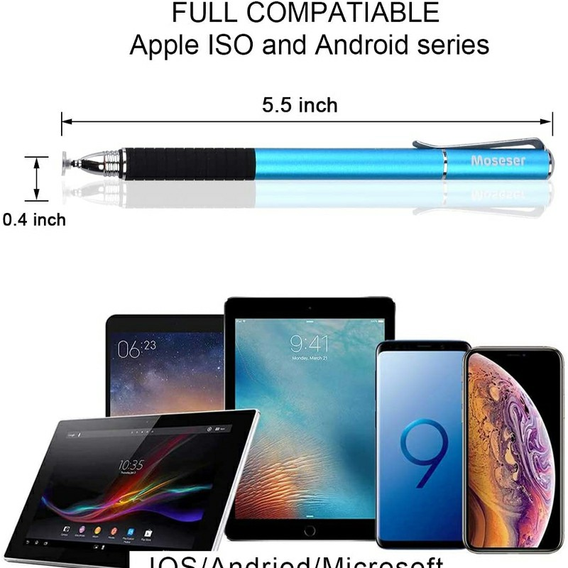 Universal Capacitive Touch Stylus Pen for iPad iPhone Tablet - Blue