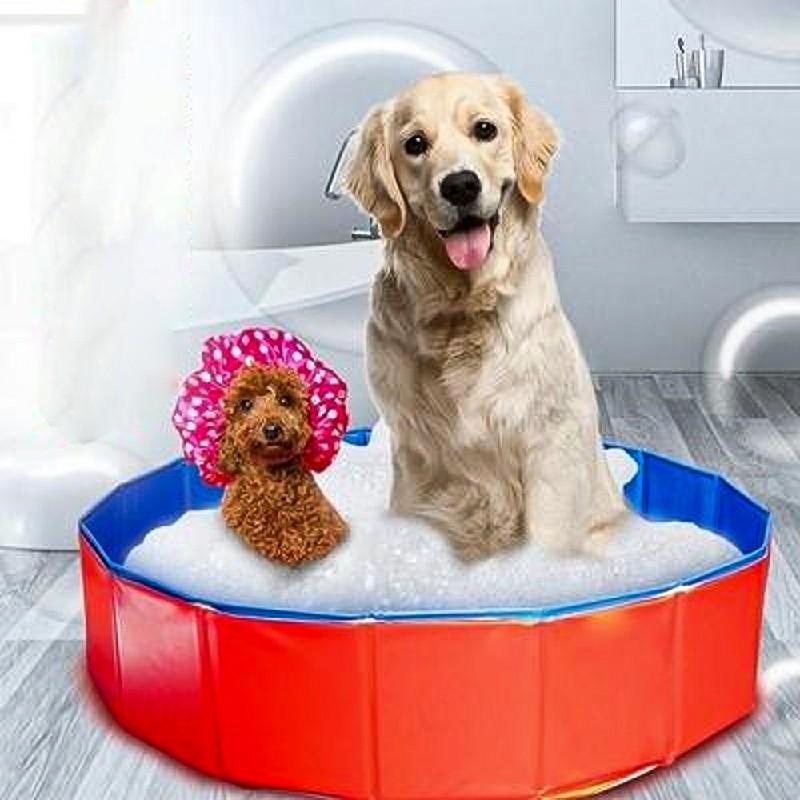 Dog Puppy Pool Bath Swimming Pool Foldable Portable Pet Paddling Bathing - 160x30cm