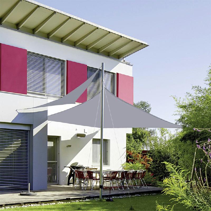 Outdoor Shade Sail Patio Suncreen Awning Garden Sun Canopy 98% UV Block Grey - 4x3m