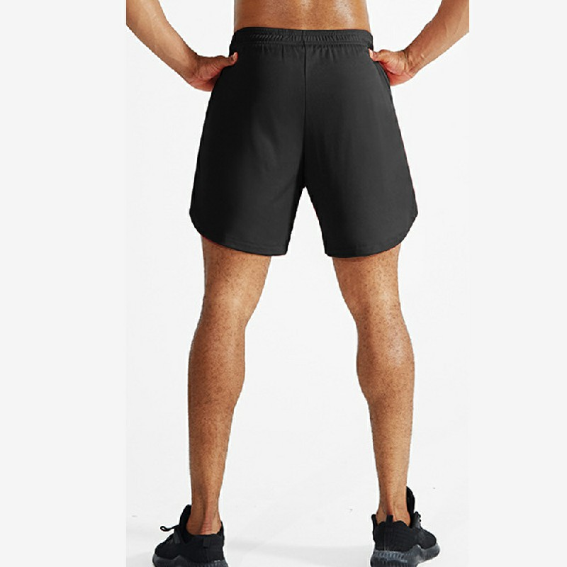 Mens 2 in 1 Gym Running Shorts Breathable Fitness Pockets Quick Dry Bottoms - 2XL