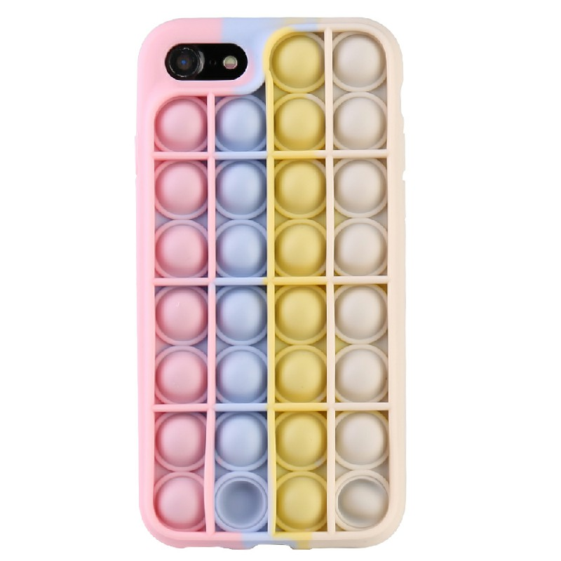 3D Fidget Rainbow Soft Silicone Case Restless Cover Back Case for iPhone 7/8