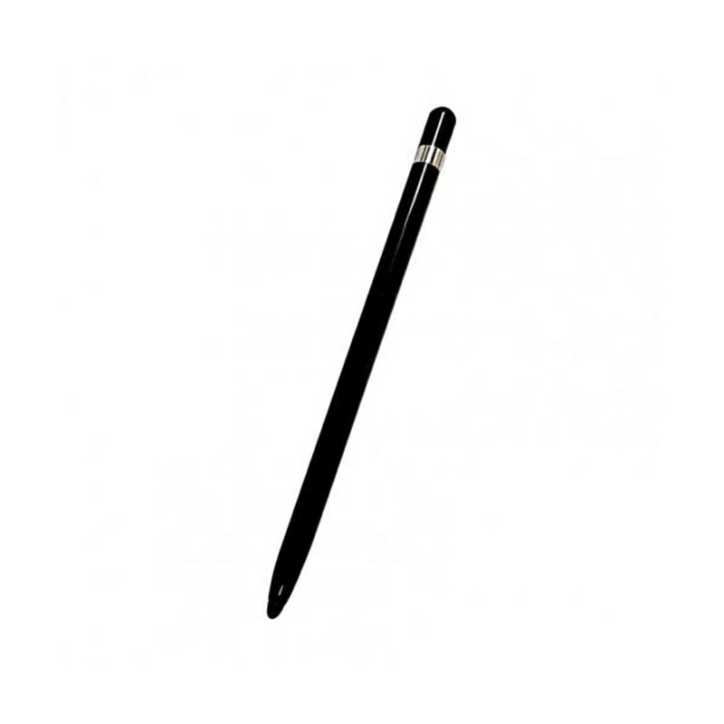 Universal Capacitive Touch Stylus Pen with Protection Cover for iPad iPhone Tablet - Black.