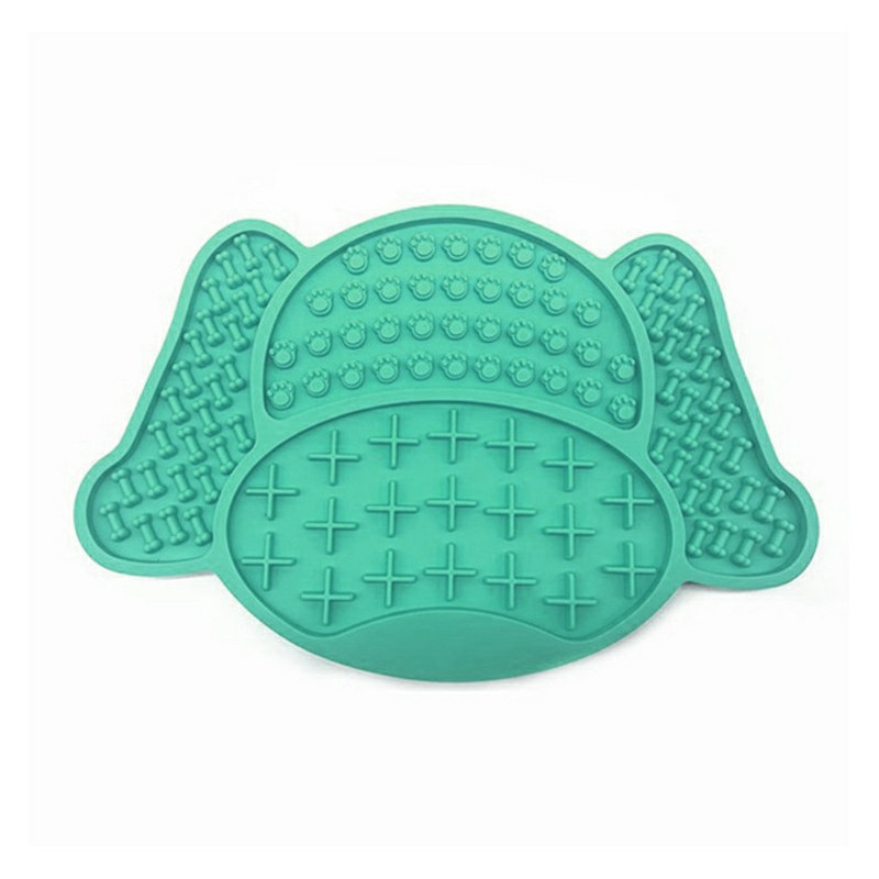 Non-Slip Silicone Dog Lick Pad Pet Food Feeder Bowl Puppy Cat Lick Mat Healthy - Sky Blue