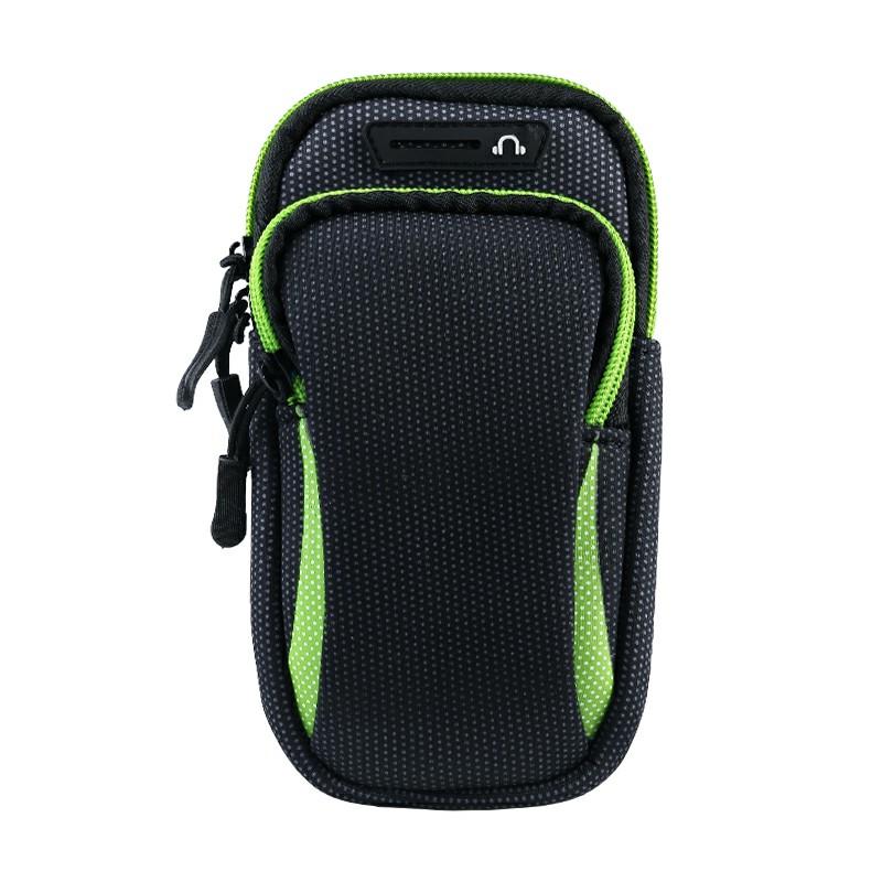 Universal Waterproof Outdoor Sports Running Armband Mobile Phone Bag - Green