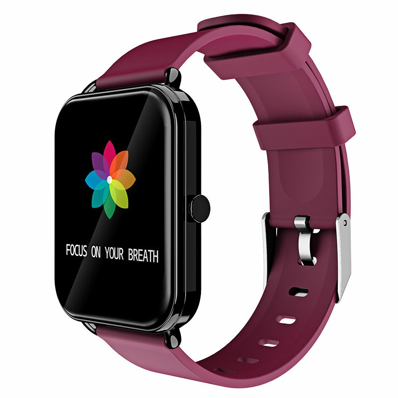 G16 16 inch Full Tentacle Smart Watch Fitness Tracker IPS Calories Heart Rate Sleep Monitor Wrist Band - Purple